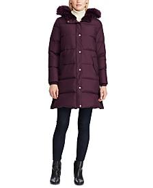 Lauren Ralph Lauren Faux-Fur Trim Hooded Puffer Coat