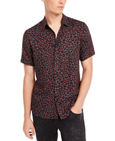 GUESS Men's Leopard Print Shirt