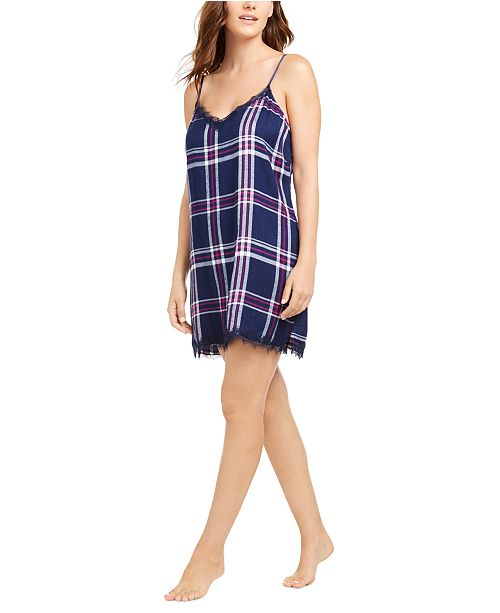 Jenni Lace-Trim Chemise Nightgown, Created for Macy's