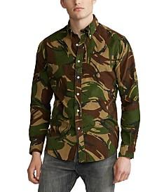 Polo Ralph Lauren Men's Classic Fit Camo Corduroy Shirt