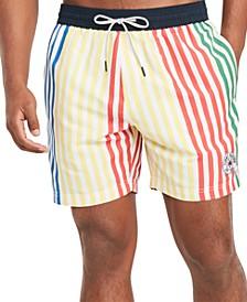 """Men's Jackson Striped 6.5"""" Swim Trunks, Created for Macy's"""