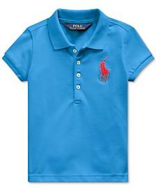 Polo Ralph Lauren Toddler Girls Stretch Mesh Polo Shirt