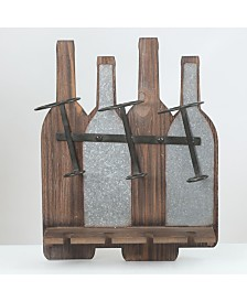 Luxen Home Wine Bottle and Glass Wall Rack