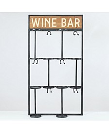 Wine Bottle and Glass Wall Holder