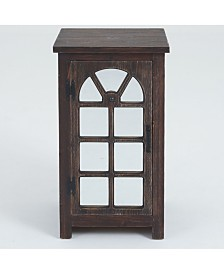 Luxen Home Mirror Door Small Console Cabinet