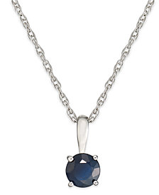 Sapphire Pendant Necklace in 14k White Gold (5/8 ct. t.w.)
