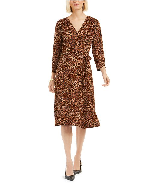 Charter Club Petite Reversible Faux-Wrap Dress, Created For Macy's