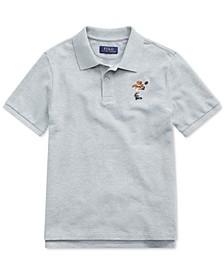 Big Boys Rugby Bear Cotton Mesh  Polo Shirt