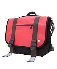 Lorimer Matte Vinyl Medium Messenger Bag