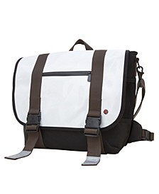 Lorimer Enamel Medium Messenger Bag