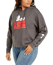 Trendy Plus Size Snoopy Graphic Hoodie