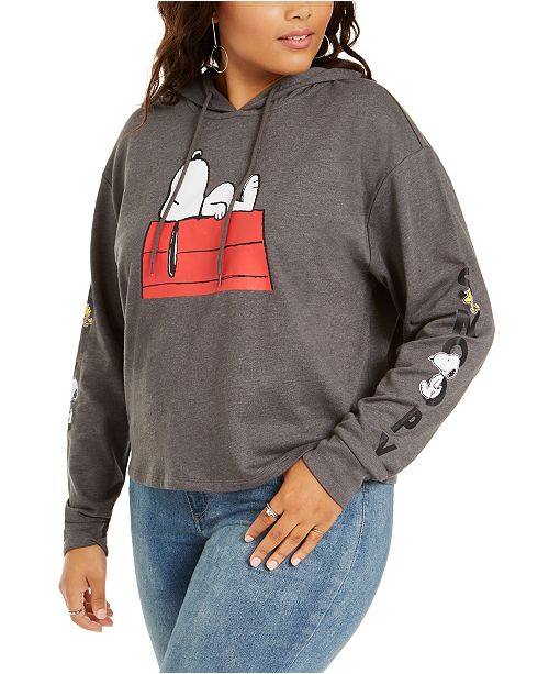 Love Tribe Trendy Plus Size Snoopy Graphic Hoodie