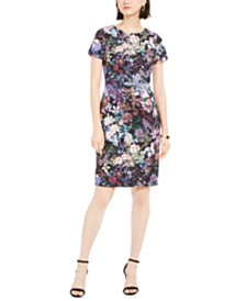 Adrianna Papell Floral-Print Scuba Dress