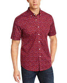 Club Room Men's Regular-Fit Performance Stretch Floral-Print Shirt, Create for Macy's