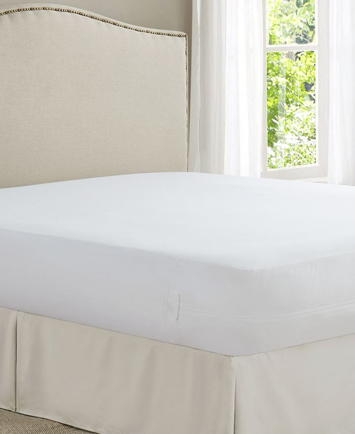 All-In-One - Cool Bamboo Queen Mattress Protector with Bed Bug Blocker