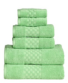 Feather and Stitch Luna 6-Pc. Towel Set