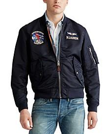 Men's Military Bomber Lined Jacket