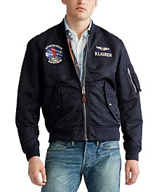 Polo Ralph Lauren Men's Military Bomber Lined Jacket