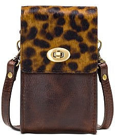 Patricia Nash Rivella Calf Hair Leopard Slim Phone Crossbody