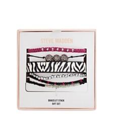 Steve Madden Zebra Print Bracelet Stack Gift Set
