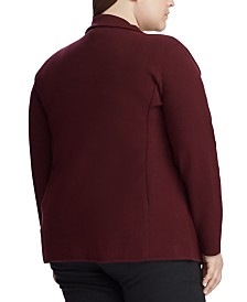 Lauren Ralph Lauren Plus Size Sweater Knit Blazer