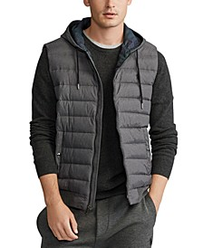 Men's Big & Tall Double-Knit Hooded Vest