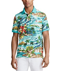 Men's Classic Fit Tropical-Print Polo Shirt