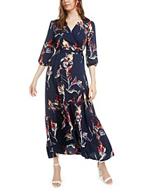 Floral-Print Wrap Maxi Dress, Created for Macy's