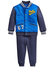 Baby Boys Lightweight Baseball Jacket & Joggers