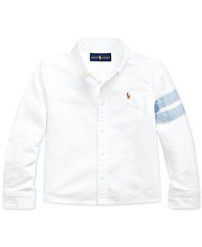 Toddler Girls Classic Oxford Crop Shirt