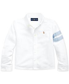 Polo Ralph Lauren Little Girls Classic Oxford Crop Shirt