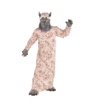 Grandma Wolf Adult Men's Costume
