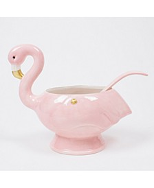 Flamingo Punch Bowl and Ladle