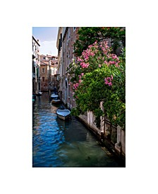 """Collection - Venice Canal Gate Canvas Art, 27"""" x 36"""""""
