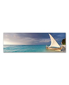 """- Your Boat Awaits You Canvas Art, 12"""" x 36"""""""