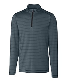 Cutter and Buck Men's Big and Tall Holman Stripe Half Zip Sweatshirt