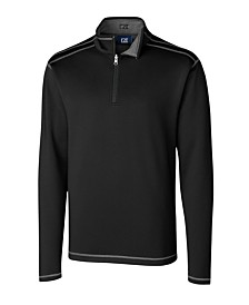 Cutter and Buck Men's Big and Tall Long Sleeves Evergreen Reversible Overknit Sweatshirt