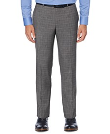 Men's Portfolio Slim-Fit Non-Iron Performance Stretch Tonal Plaid Dress Pants