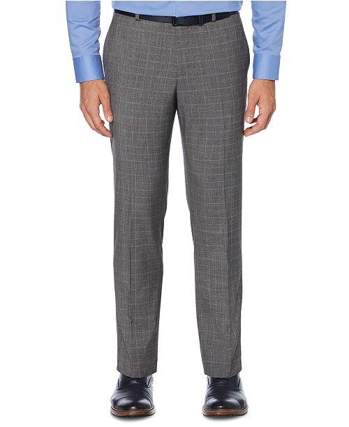 Perry Ellis Men's Portfolio Slim-Fit Non-Iron Performance Stretch Tonal Plaid Dress Pants