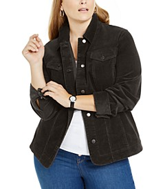 Plus Size Corduroy Jacket, Created for Macy's