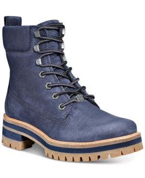 "Timberland WOMEN'S COURMAYEUR VALLEY 6"" LACE-UP LEATHER BOOTS WOMEN'S SHOES"