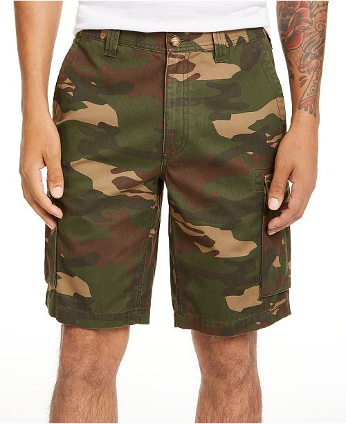 Club Room Men's Regular-Fit Camouflage Cargo Shorts, Created for Macy's