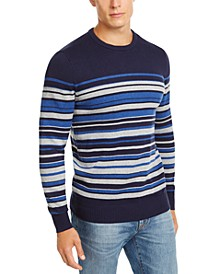 Men's Cotton Stripe Sweater, Created for Macy's