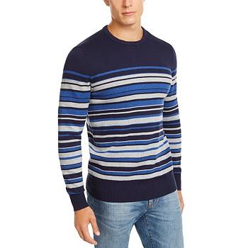 Club Room Men's Stripe Cotton Sweater