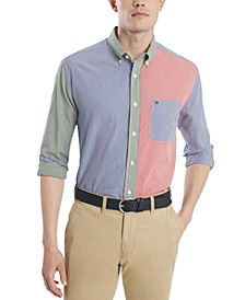 Men's Mickey Check Colorblock Shirt, Created for Macy's