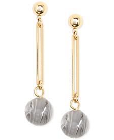Gold-Tone & Acetate Ball Drop Earrings