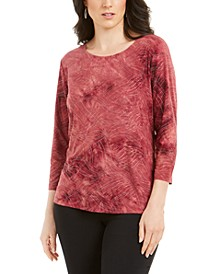 Tie-Dyed Embellished Jacquard Top, Created for Macy's