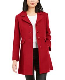 kate spade new york Faux-Fur-Trim Walker Coat