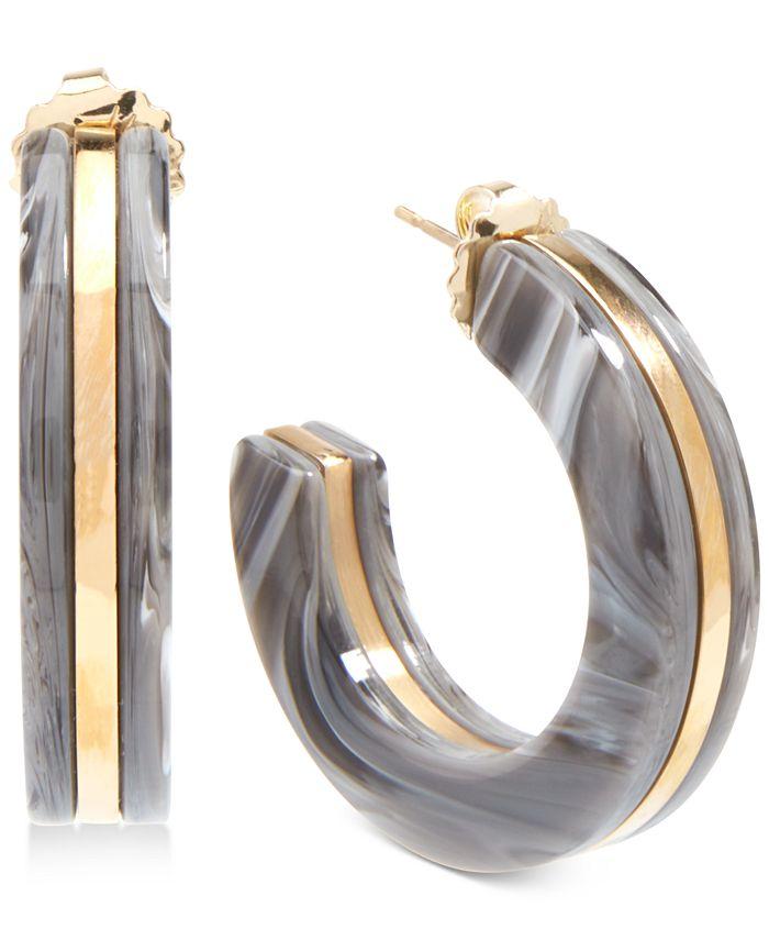 Zenzii - Gold-Tone & Acetate Open Hoop Earrings