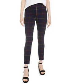 Bar III Plaid Skinny Pants, Created for Macy's